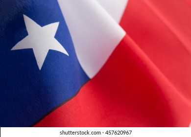 Flag of Chile with detailed fabric texture