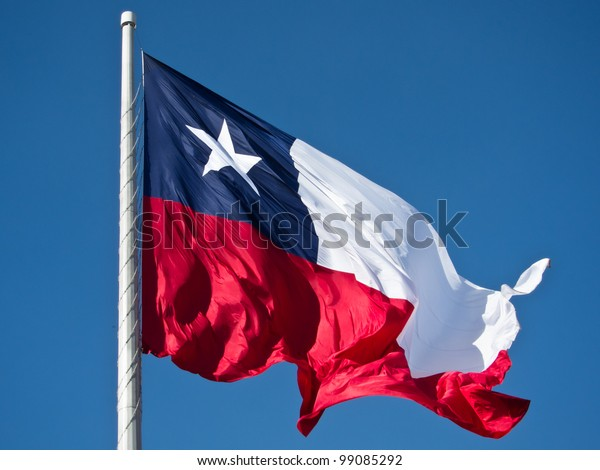 Flag of Chile on the sky