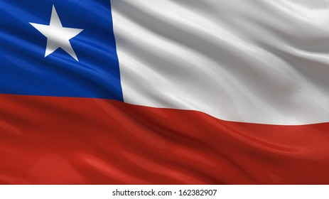 Flag of Chile waving in the wind