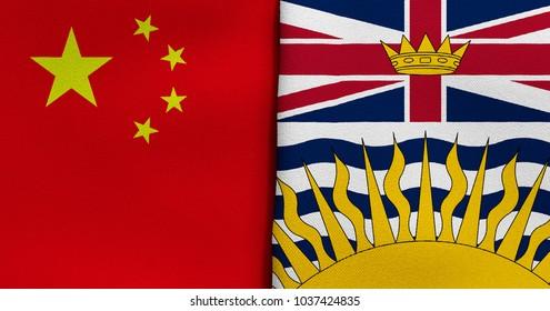 Flag of China and British Columbia