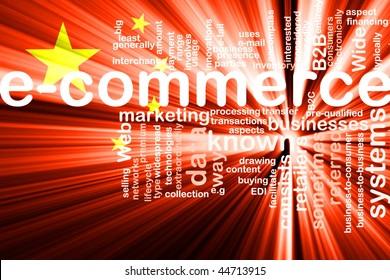 Flag of China, national symbol illustration clipart internet e-commerce