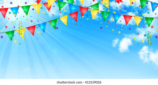 Flag colorful event background