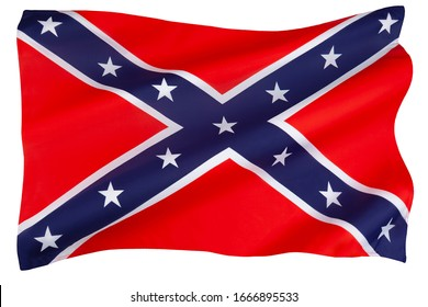 Flag of the Confederate States of America. Its use started in response to the civil rights movement in the 1950s and 1960s and continues to the present day.