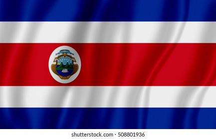 Flag of Costa Rica (Republic of Costa Rica)