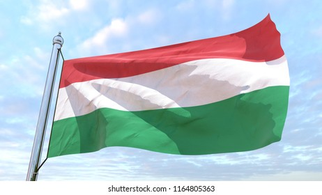 The flag of the country Hungary