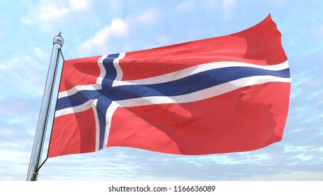 The flag of the country Norway