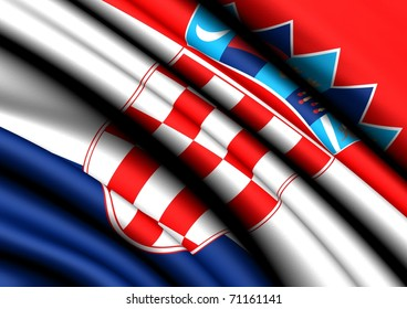 Flag of Croatia.