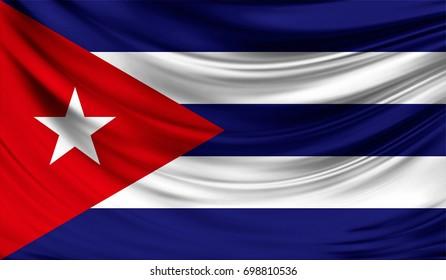 Flag of Cuba, 3D illustration.