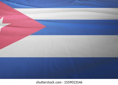 Flag of Cuba cloth fabric. National Flag of Cuba for Independence day.