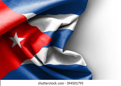 Flag of Cuba on white background