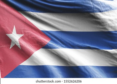 Flag of Cuba waving. National Cuba Flag for Independence day.