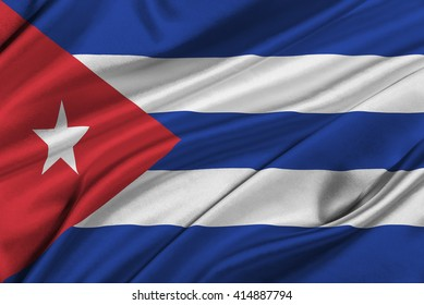 Flag of Cuba waving in the wind.