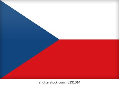 The flag of the Czech Republic. (Original and official proportions).