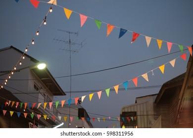 Flag Decoration Festival Place