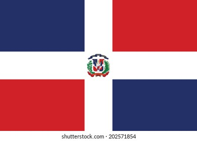 Flag of Dominican Republic. Accurate dimensions, element proportions and colors.
