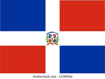 Flag of Dominican Republic, national country symbol illustration