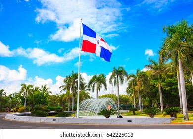Flag of Dominican Republic, Punta Cana