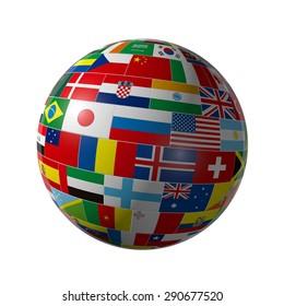 Flag, the earth
