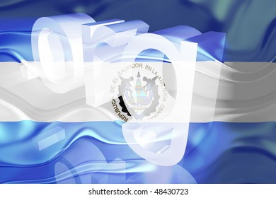 Flag of El Salvador, national country symbol illustration wavy org organization website