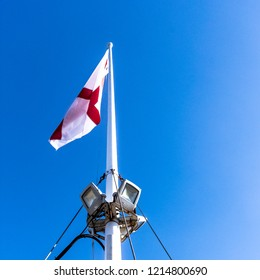 The flag of England is derived from Saint George's Cross (heraldic blazon: Argent, a cross gules)