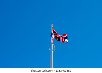 The flag of England is derived from Saint George's Cross (heraldic blazon: Argent, a cross gules) whose association of the red cross as an emblem of England can be traced back to the Middle Ages.