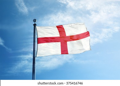 Flag of England on the mast