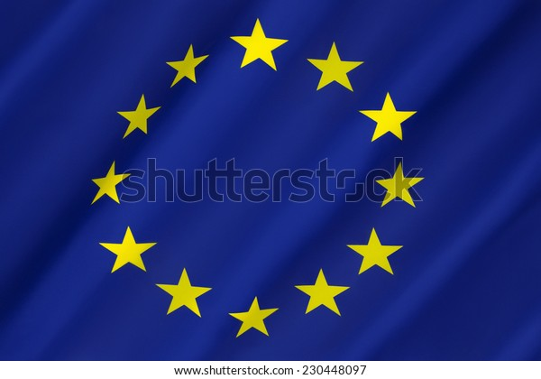 Flag of Europe - The flag and emblem of the Council of Europe and the European Union. It is also often used to indicate eurozone countries. Adopted 8th December 1955.