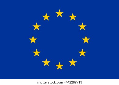 Flag of Europe, European Union, in correct proportions and colors