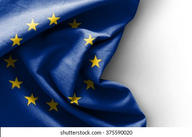 Flag of Europe on white background