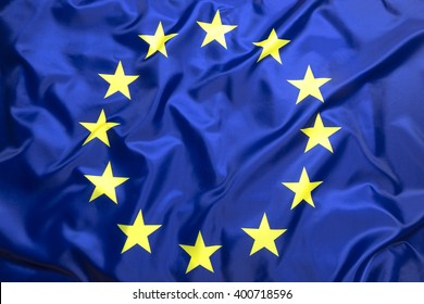 Flag of European Union as a background