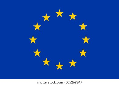 Flag of European Union. Color style.