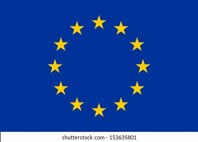 Flag of the European Union - Proportions: 1.5:1 - Colours: Reflex Blue, Yellow