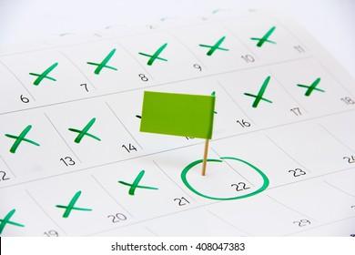 Flag the event day or deadline on calendar 2017 - timeline, time, concept, idea, management, concept, page, background