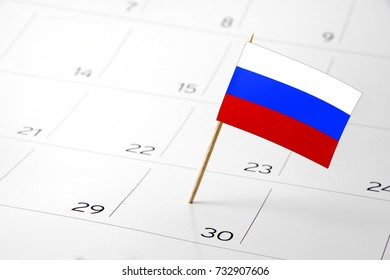 Flag the event day or deadline on calendar 2017 –Russia- time, page, design, background, timeline, management, concept, background