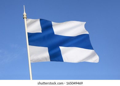 The flag of Finland dates from the beginning of the 20th century. On a white background, it features a blue Nordic cross, which represents Christianity.