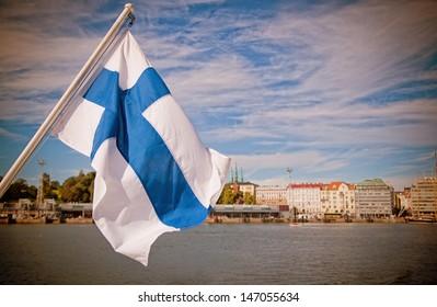 Flag of Finland, Helsinki