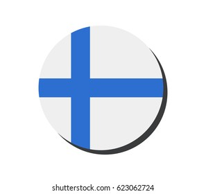 flag of Finland in the shape of a circle