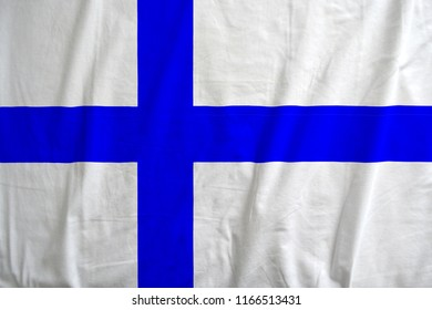 Flag of Finland waving.