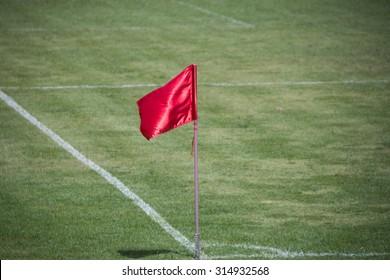 Flag at football corner
