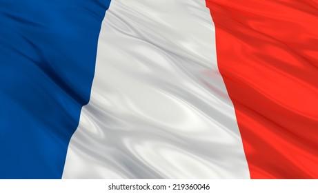 Flag of France .