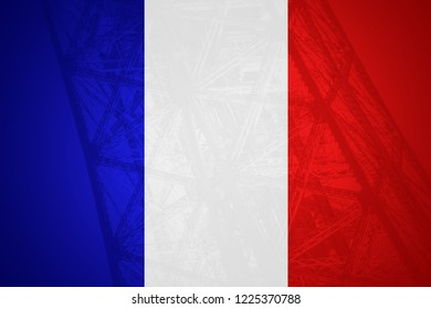 Flag of France in minimalistic design and high quality