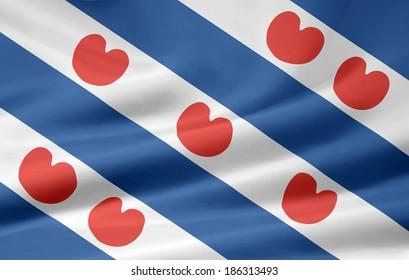Flag of Frisian - Netherlands