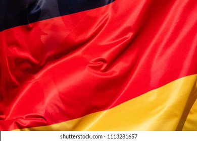 Flag of Germany flying in the wind