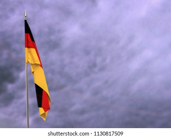 Flag of Germany hanging down dangling