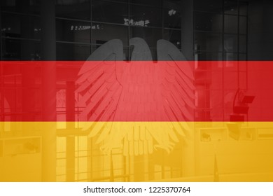 Flag of Germany in minimalistic design and high quality