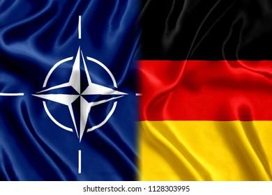 Flag Germany and Nato Silk