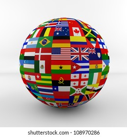 Balls country flag images stock photos vectors shutterstock flag globe with different country flags freerunsca Image collections
