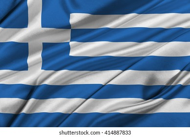 Flag of Greece waving in the wind.