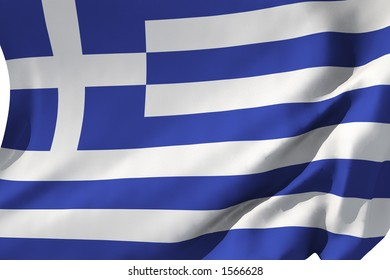 Flag of Greece in the wind.