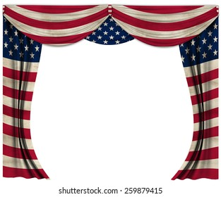 Flag grunge curtain theater flag of United States Of America USA